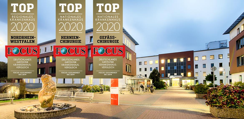Knappschaftskrankenhaus Bottrop in der Focus-Liste dreimal unter den Besten