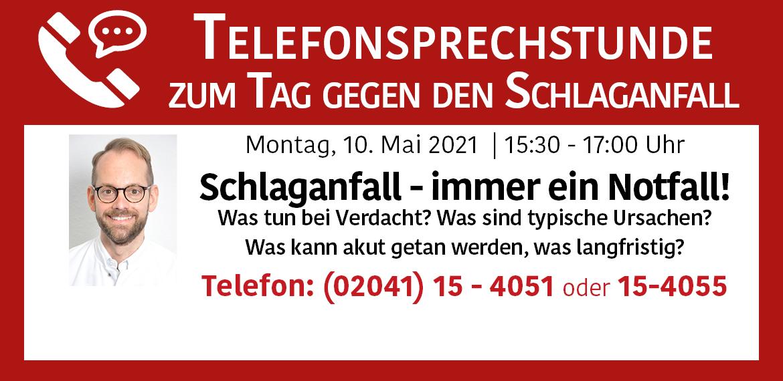 Telefonsprechstunde Prof. Eggers Schlaganfall