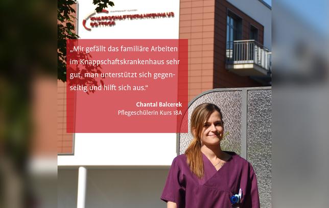 Chantal Balcerek Pflegeschülerin Knappschaftskrankenhaus Bottrop