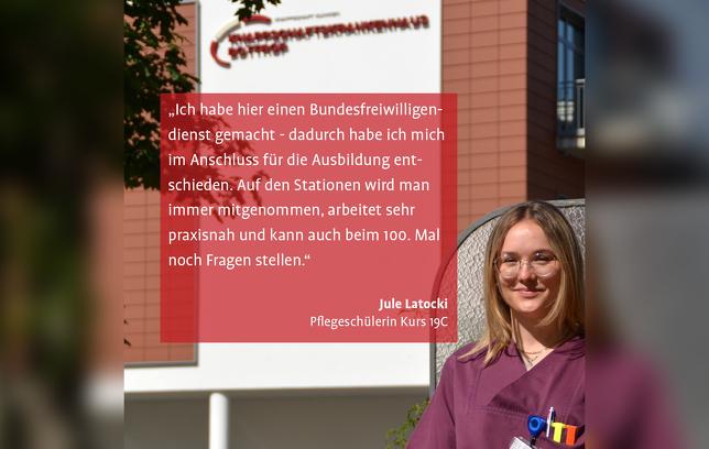 Jule Latocki Pflegeschülerin Knappschaftskrankenhaus Bottrop
