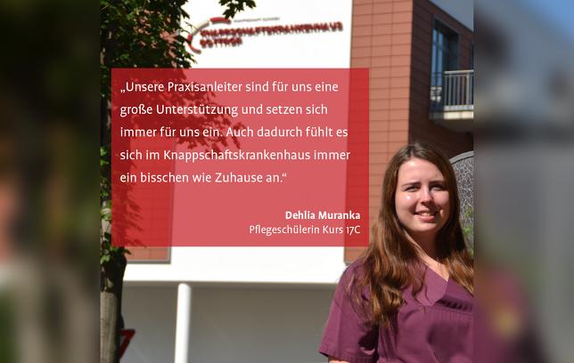 Deliah Muranka Pflegeschülerin Knappschaftskrankenhaus Bottrop