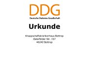 "Zertifikat ""Klinik für Diates-Patienten geeignet"""