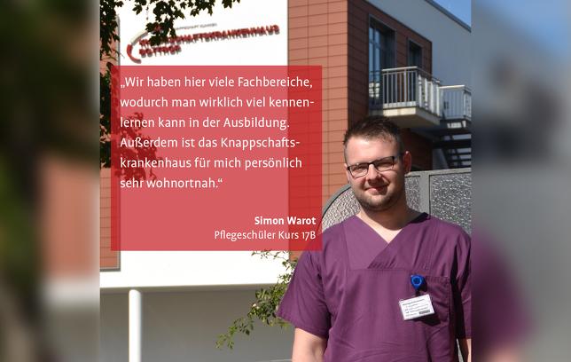 Simon Warot Pflegeschüler Knappschaftskrankenhaus Bottrop