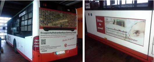 Knappschaftskrankenhaus mit neuer Werbeaktion